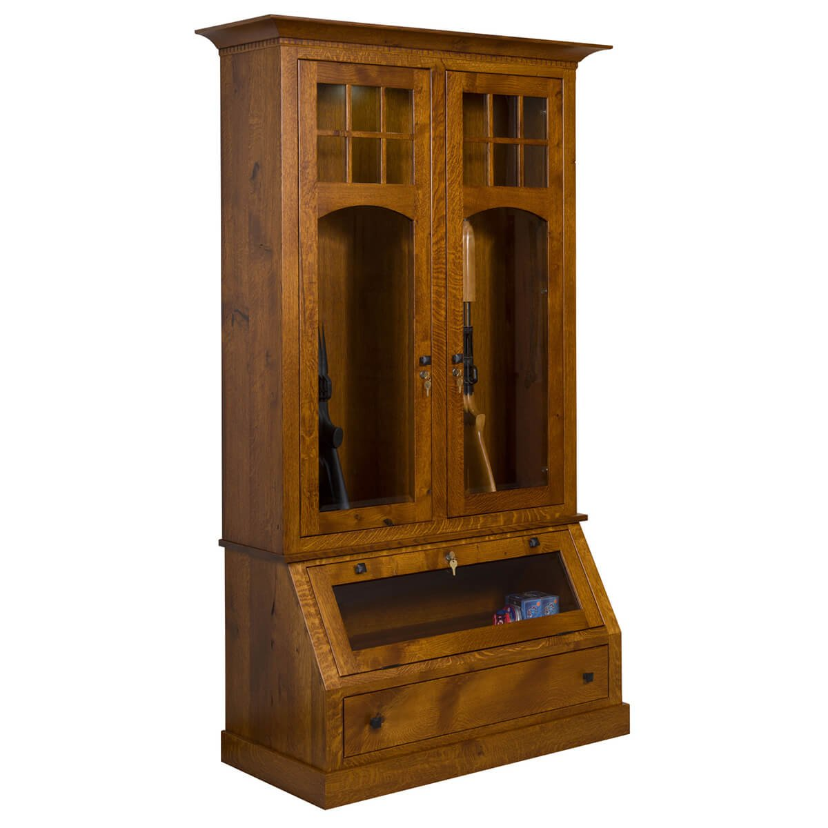 Gun Cabinets Amish Hills Handmade Furniture